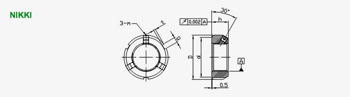 MF系列精密研磨螺帽-- 30°锁定